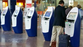 Air France airport kiosks