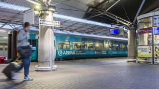 Arriva Trains Wales at Manchester Airport railway station