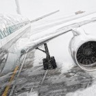 Iced-up aircraft